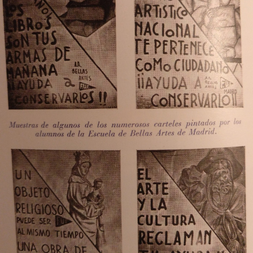 Carteles en defensa Tesoro Nacional.