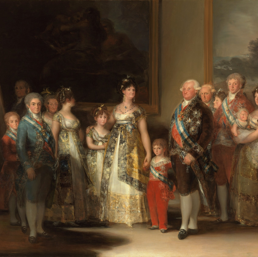 La familia de Carlos IV (1) Goya.