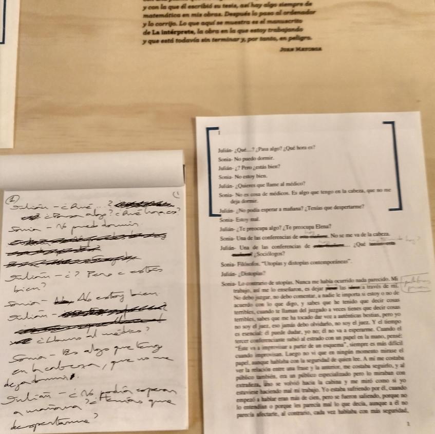 14 Manuscrito de una obra de teatro.