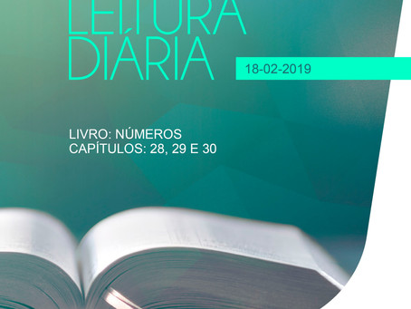 LEITURA DIÁRIA - 18/02/2019