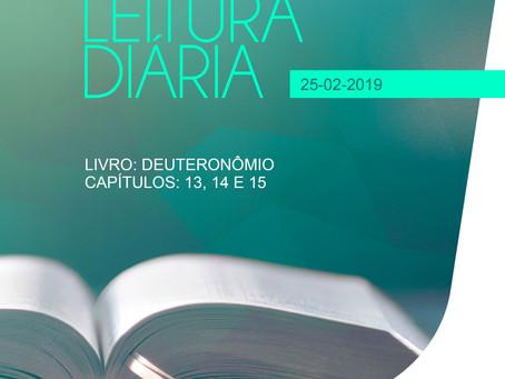 LEITURA DIÁRIA - 25/02/2019