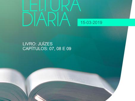 LEITURA DIÁRIA - 15/03/2019