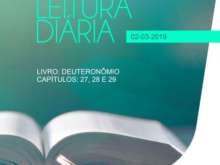 LEITURA DIÁRIA - 02/03/2019