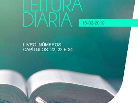 LEITURA DIÁRIA - 16/02/2019