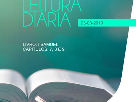 LEITURA DIÁRIA - 23/03/2019