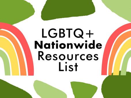 LGBTQ+ Resources Nationwide