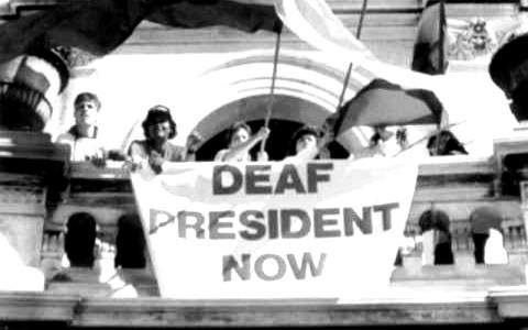 Deaf President Now Protest