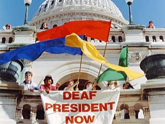 Deaf President Now Protest