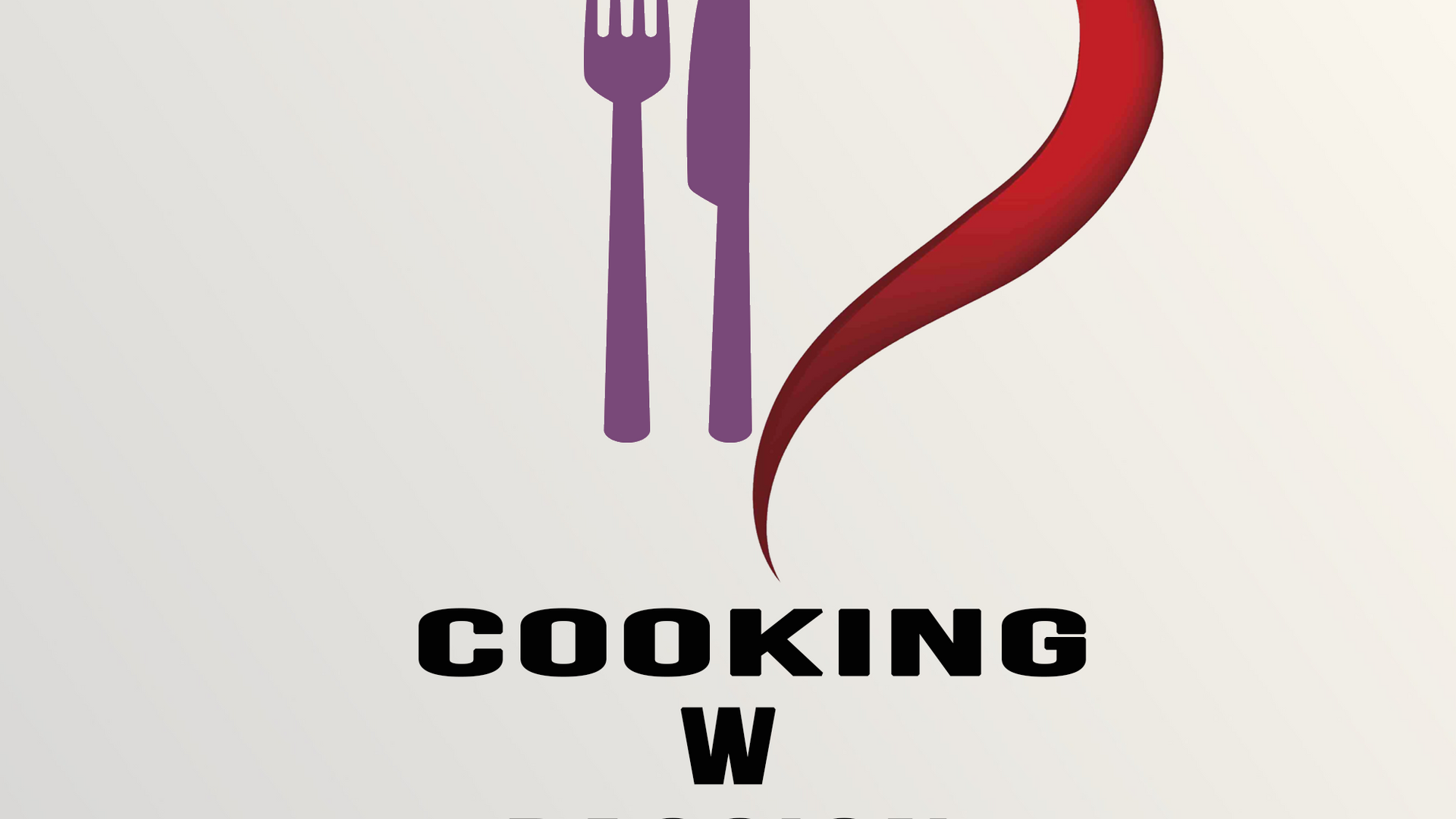 Cooking with Passion logo design.
