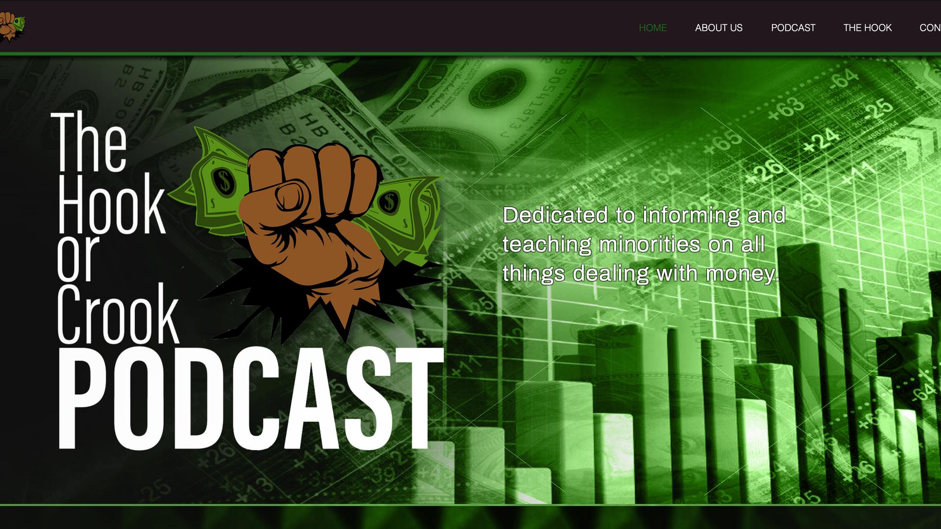 The Hook or Crook website design.