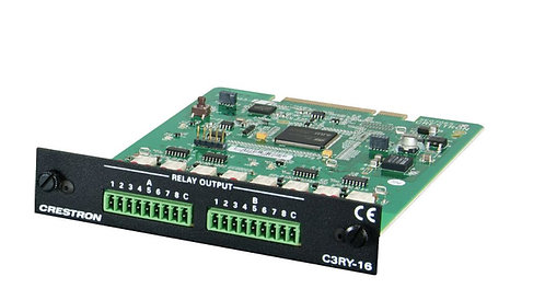 Crestron C3RY-16 3-Series™ Control Card – 16 Relay Ports