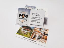 M&M Appartements Visitenkarten