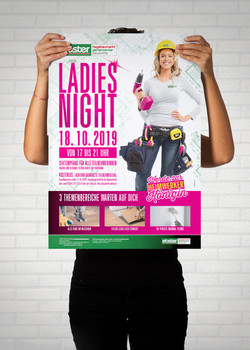 EBSTER Ladies Night Poster