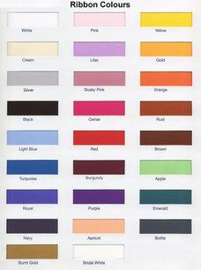 Ribbon colour chart