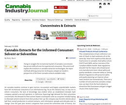 The Evolution of Cannabis Concentrates From Solvent to Solventless