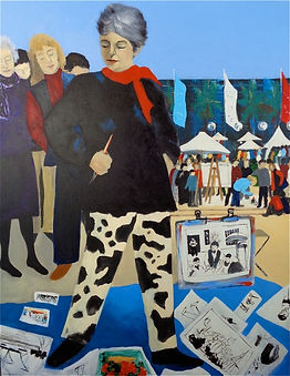 A self potrait of Diana Marlay Cole at Art on the Rocks
