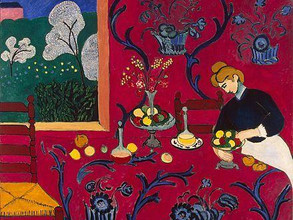 Color Game : Art Inspired Red Dining Room