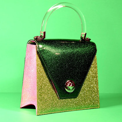 Green Apple mini Sparkling Handbag
