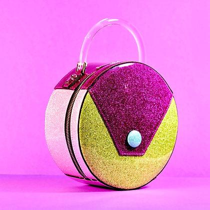 Sparkling Grape Circular Handbag