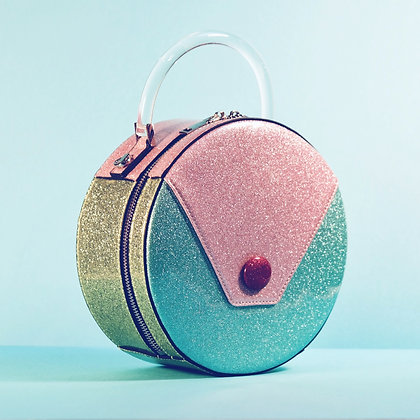 Princess Cake Sparkling Circular Handbag