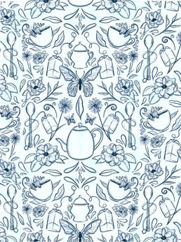 Tea & Butterfly Pattern