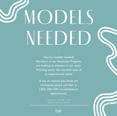 Call for models graphic