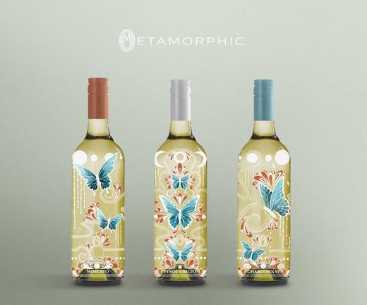 Metamorphic Wine Labels