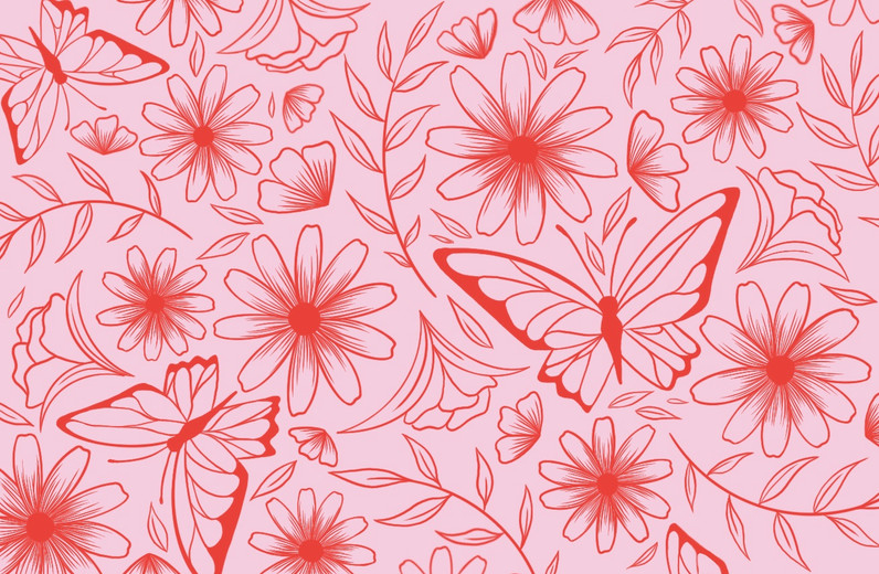 Butterfly & Floral Pattern