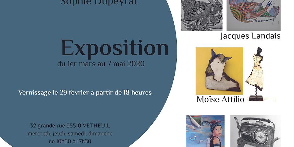 Exposition Sybil AUBIN, Jacques LANDAIS et Moïse ATTILIO