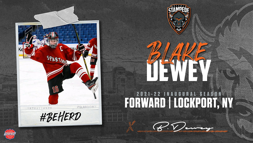 Dewey Signs with the Stampede