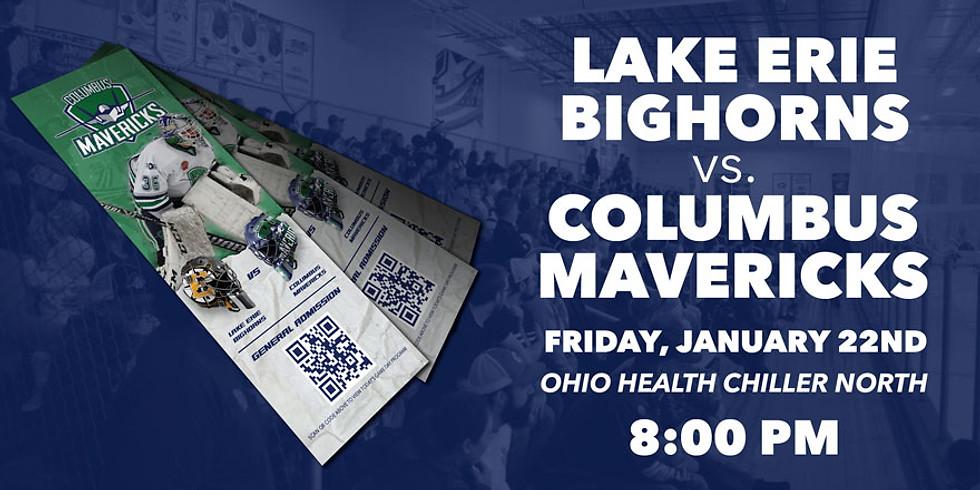 Columbus Mavericks vs. Lake Erie Bighorns - January 22nd