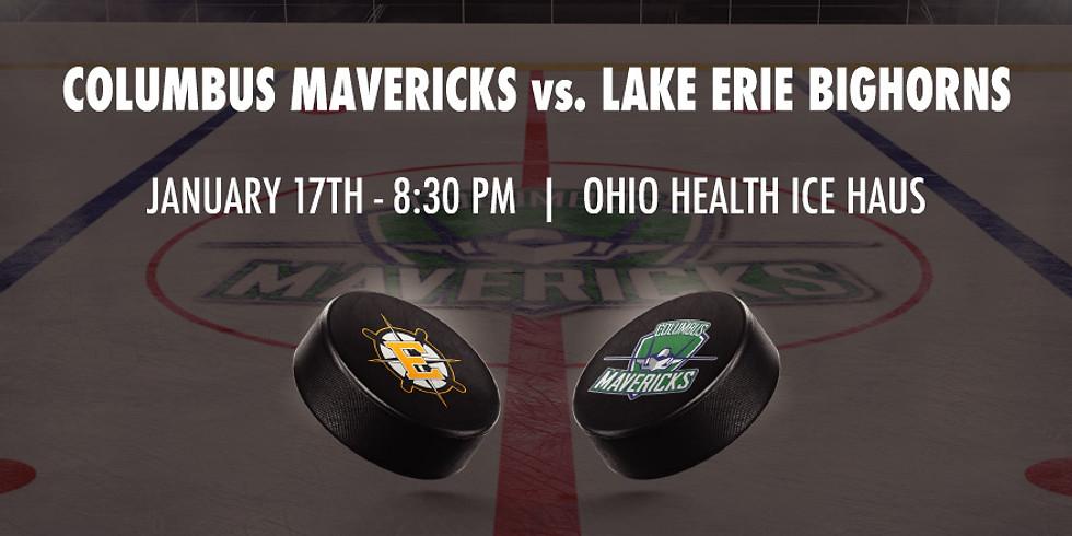 Columbus Mavericks vs. Lake Erie Bighorns - January 17th
