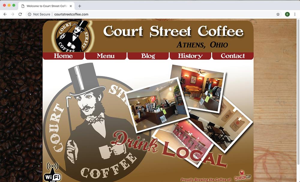 Court Street Coffee's original website