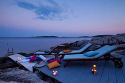 Sun deck at evening - Villa beach