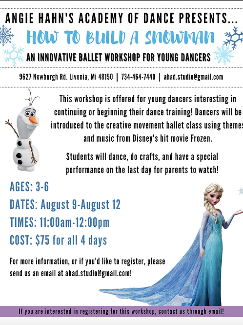 How to Build a Snowman Workshop
