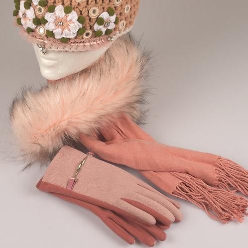 Schal mit Kunstfell
