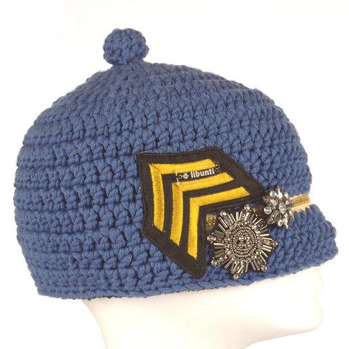Military Müt(z)e blau mit Zipper