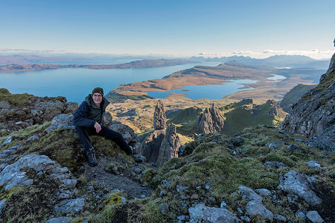Gordon Charlton and the Old Man of Storr