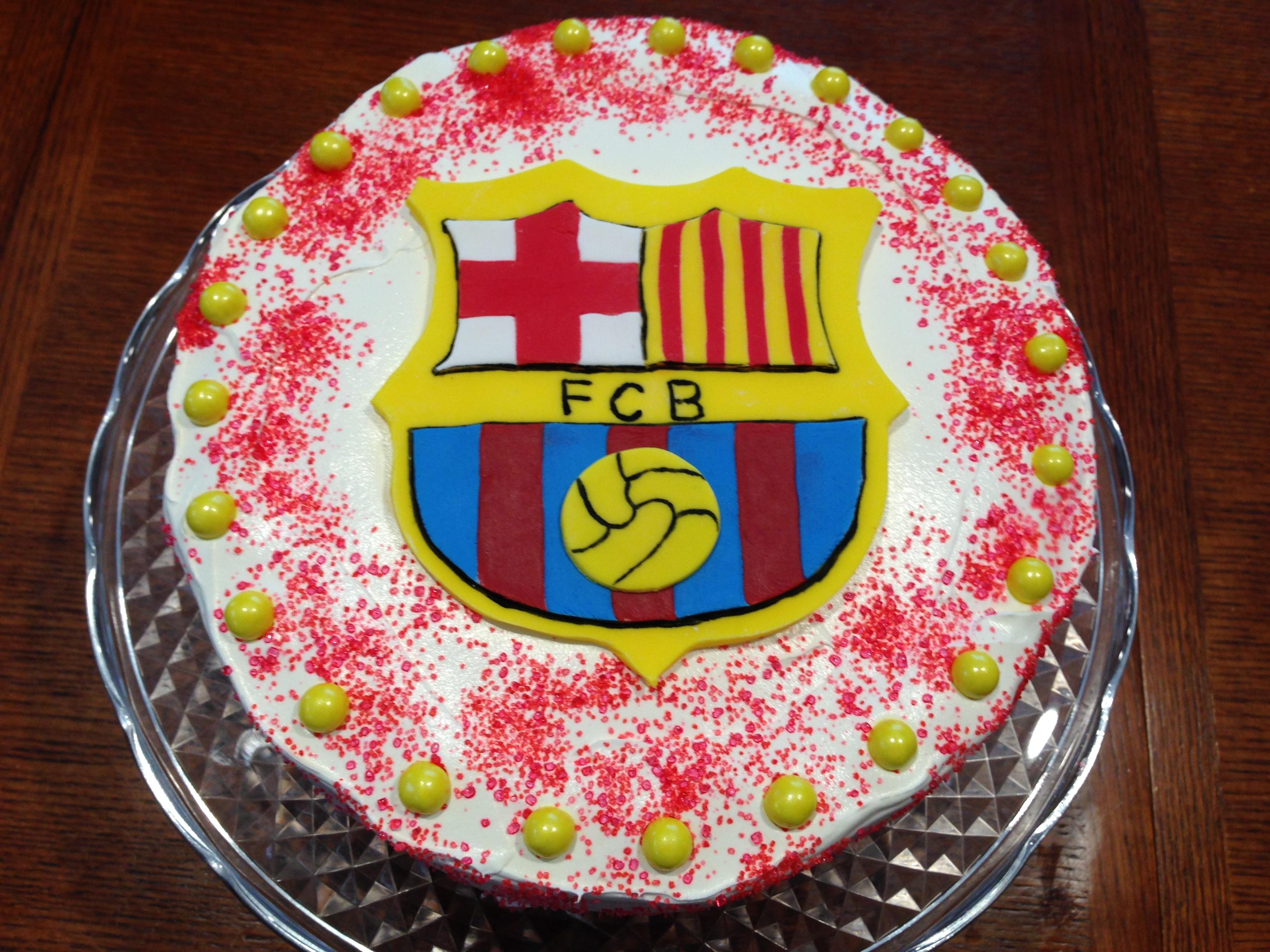 Barcelona Fan ice cream cake