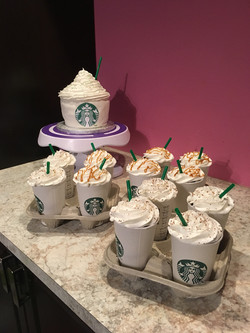 Starbucks lover cupcakes and cake