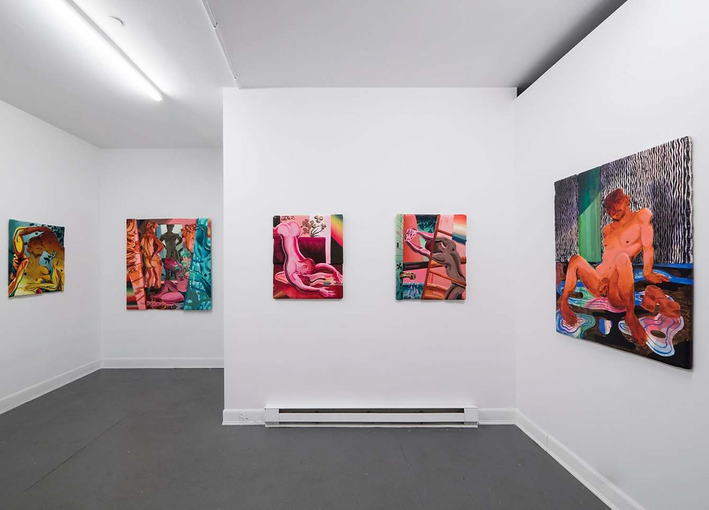"kyle's solo exhibition ""Leaves Don't Thank the Sun"" at the Sardine gallery in New-York. (Picture by Kyle Vu Dunn)"