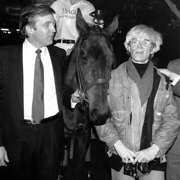 דונלד טראמפ, אנדי וורהול וסוס, 1983