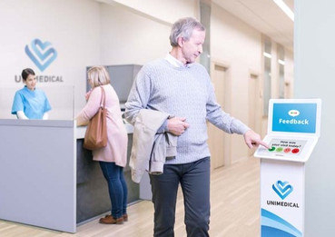 Touch stand model in use healthcare