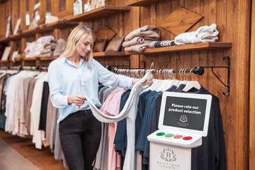 Smiley Terminal clothing shop selection