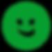Smiley dark green 600