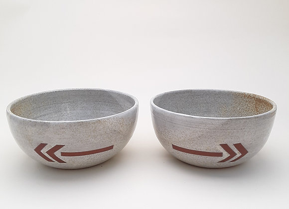 speckled white arrow bowl