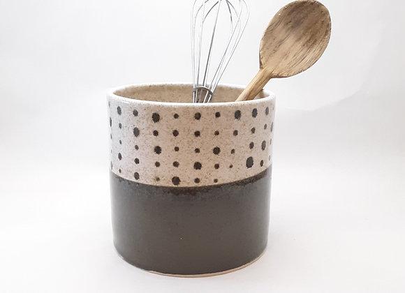 polka dot utensil holder