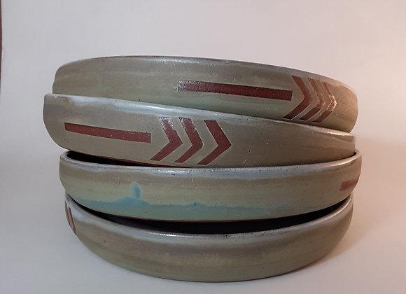 dusty Blue Arrow Plate