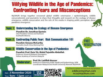 MyOHUN Webinar: Vilifying Wildlife in the Age of Pandemics: Confronting Fears and Misconceptions