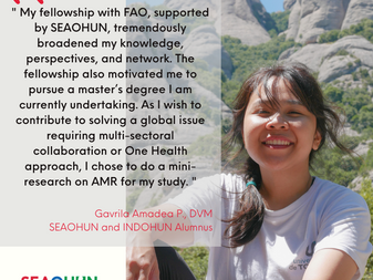 SEAOHUN Alumnus Contributing to World Antimicrobial Awareness Week